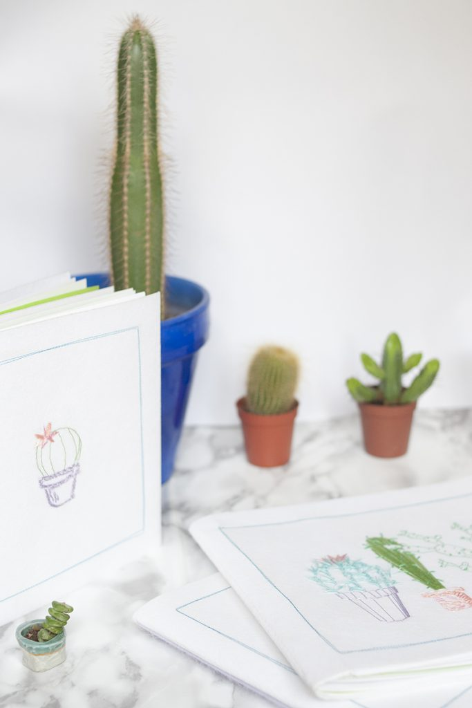 Diy Carnet cactus par Tea&Poppies