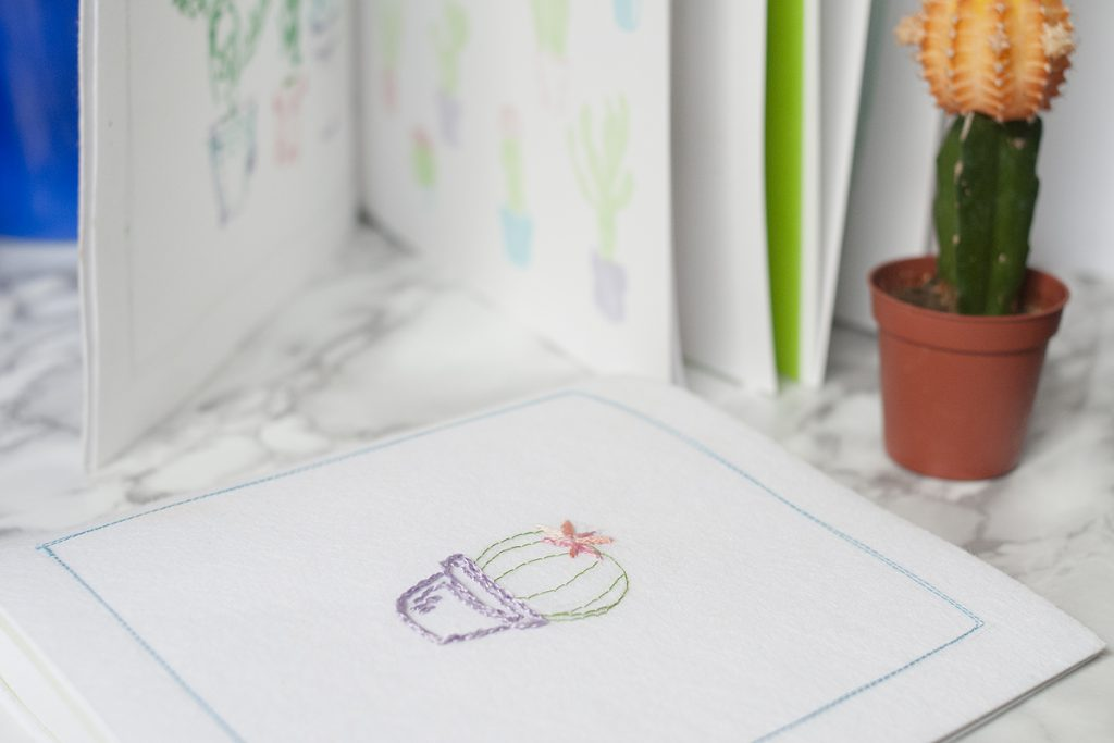 DIY do it yourself Carnets cactus à broder par Tea&Poppies
