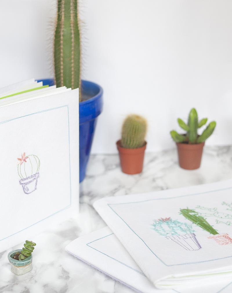 DIY do it yourself Carnets cactus à broder par Tea&Poppies