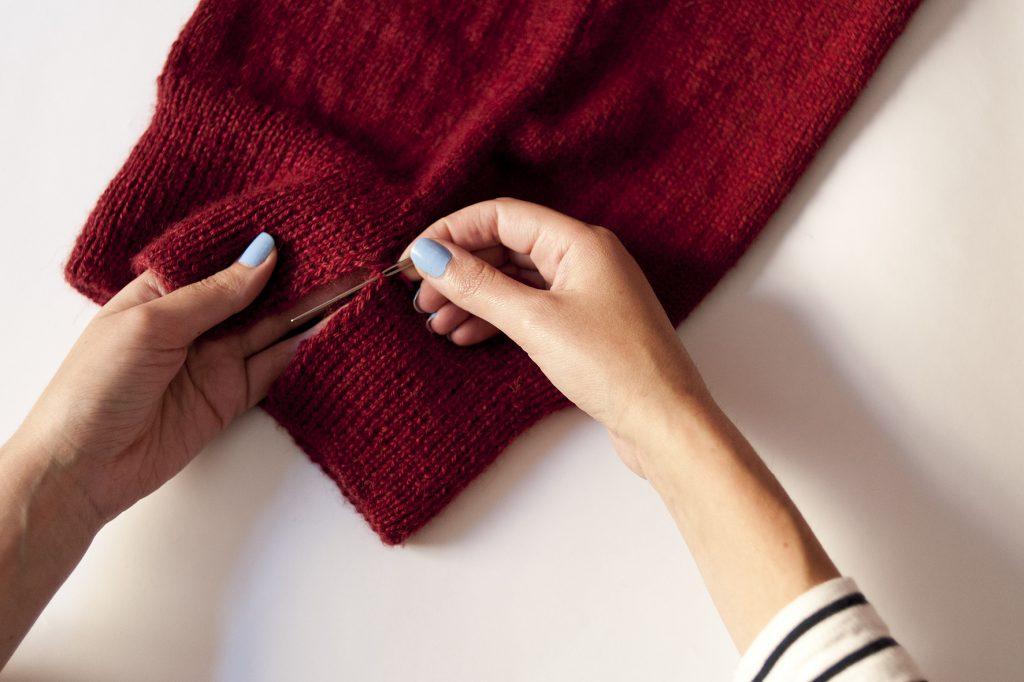 tuto, DIY, tricot, bonnet, tea and poppies, bonnet slouch, comment tricoter un bonnet, couture invisible