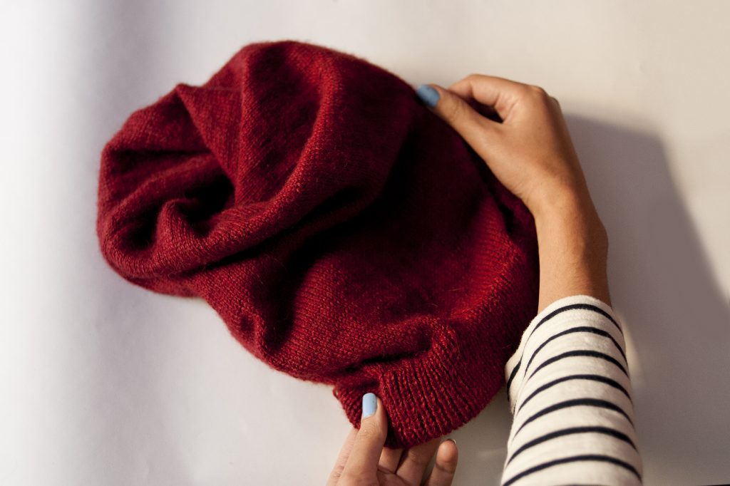 tuto, DIY, tricot, bonnet, tea and poppies, bonnet slouch, tricot facile, jersey, tunnel, laine
