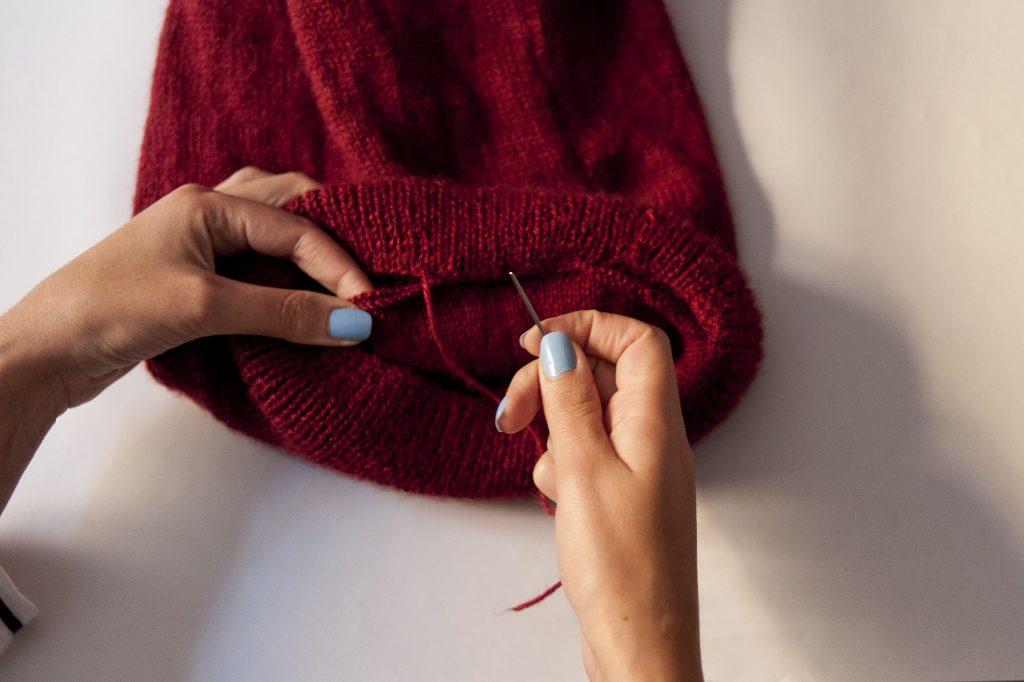 tricot facile, tuto, DIY, tricot, bonnet, tea and poppies, bonnet slouch, comment tricoter un bonnet