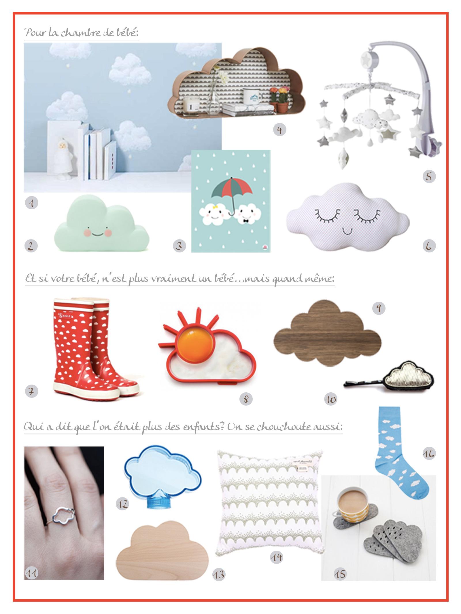 sélection shopping nuages Tea&Poppies