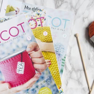 Mon atelier tricot, les fiches pour apprendre à tricoter facilement