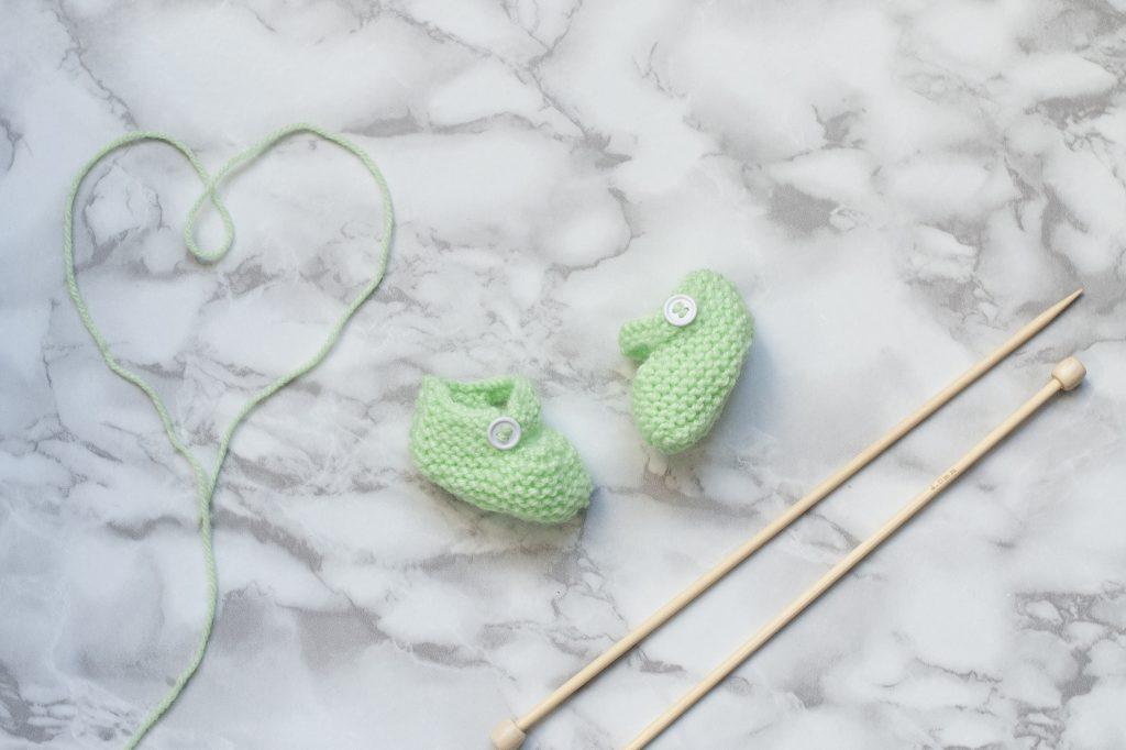 les chaussons à tricoter de mon atelier tricot