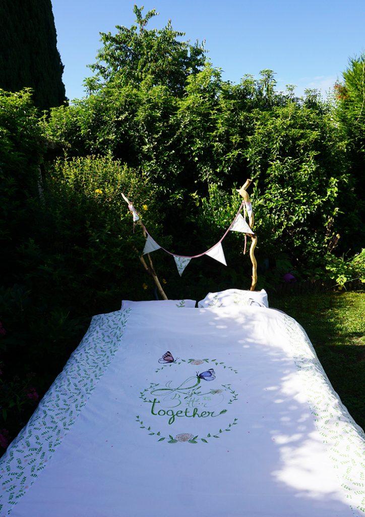 DIY housse de couette, cadeau de mariage Tea and Poppies