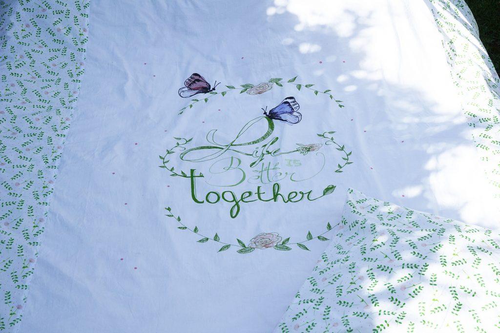 DIY housse de couette, cadeau de mariage, Tea and Poppies, cadeau de mariage fait main, coudre une housse de couette