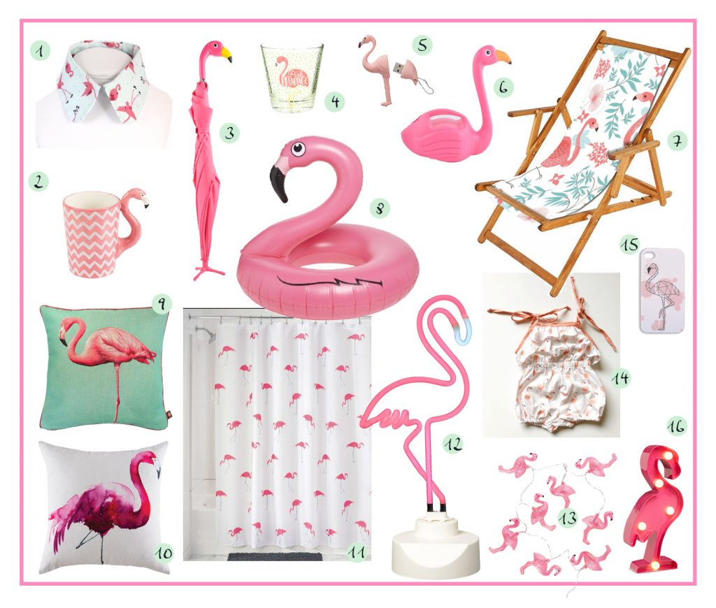 flamant rose sélection d'articles flamant rose by Tea&Poppies