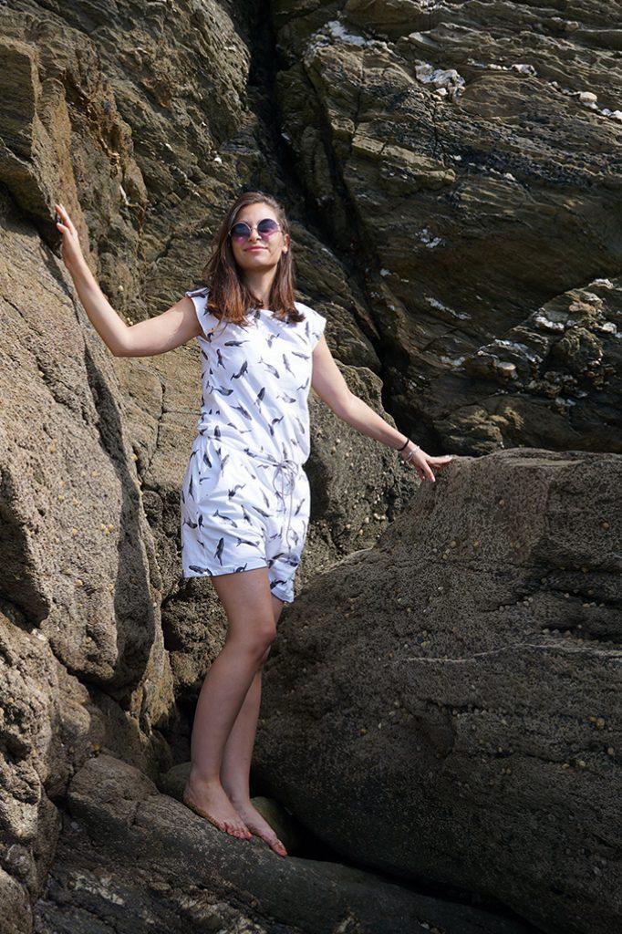 """Couture jersey avec le livre """"Jersey pour toutes"""". Le combishort baleines par Tea&Poppies"""