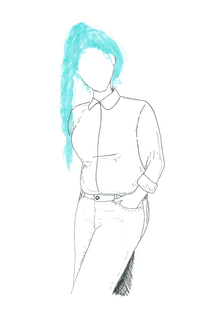dessin illustration blogueuse mode guide: comment bien poser par tea&poppies