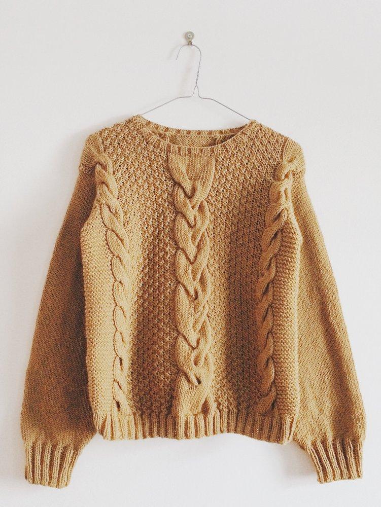 Modèle du pull en laine Agatha de Marcelle et Clo