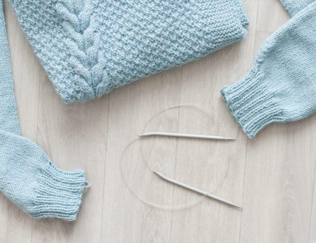 tricot, pull, laine, Marcelle et Clo, patron, Mint