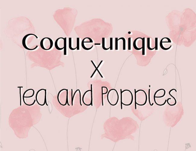 partenariat coque-unique objets personnalisables X Tea&Poppies blog création DIY