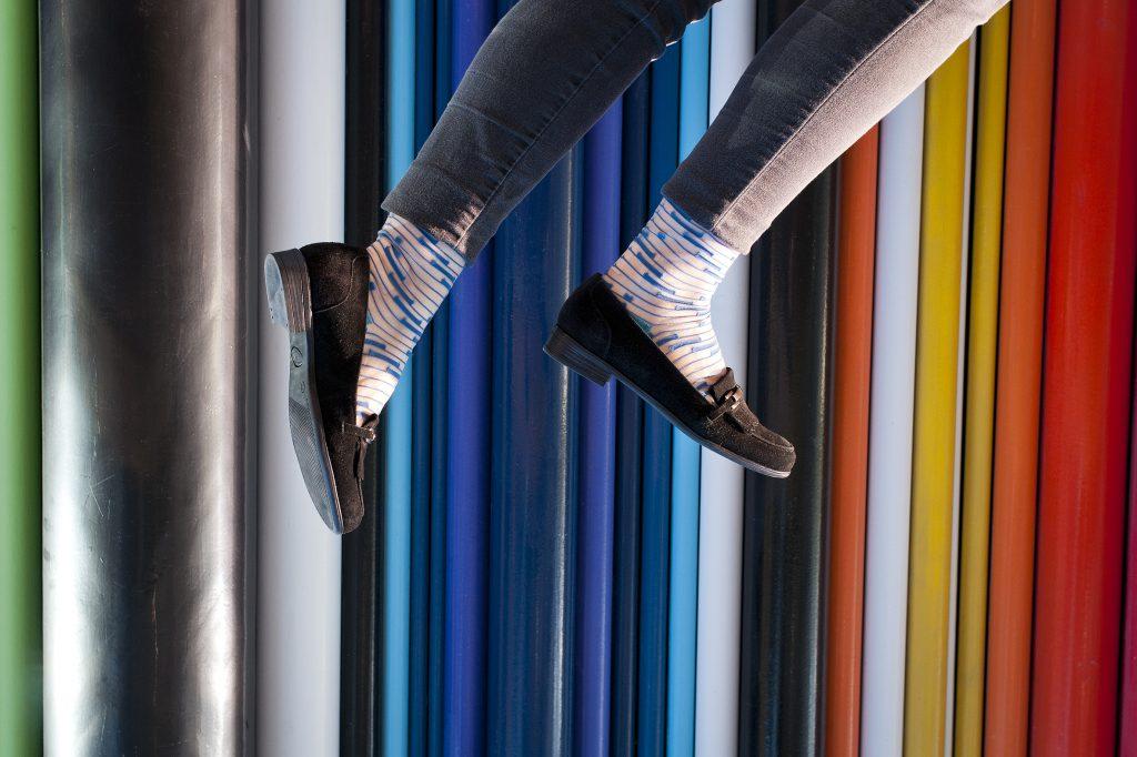 chaussettes, Atelier ST Eustache, Paris, mode, shooting, chaussures, couleur, pieds