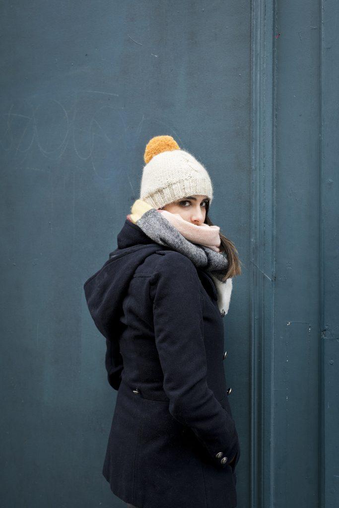 bonnet, tricot, torsade, fait main, look, blog tricot, bonne à torsade centrale