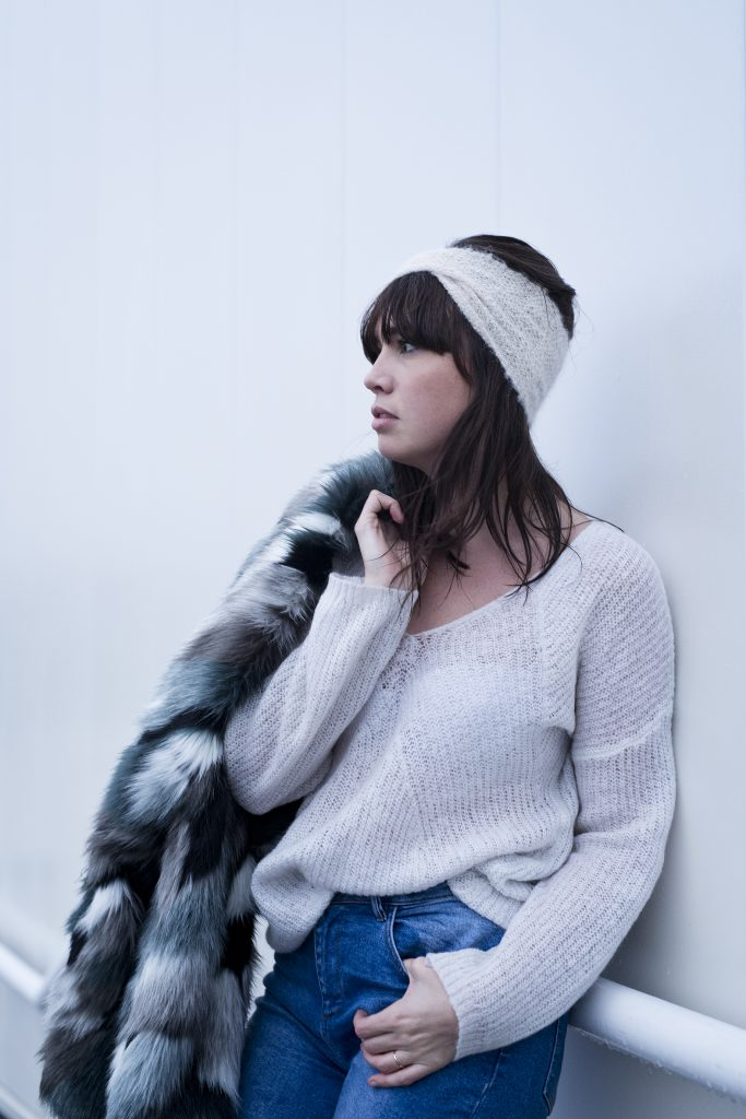 headband au point de riz, photo, shooting, tricot, mode, Joli Carmin, Tea & Poppies, DIY tricot, headband