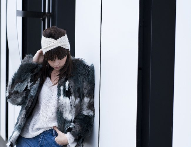 Tuto, DIY, tricot, headband, bandeau, fait main, Joli Carmin, photo, look