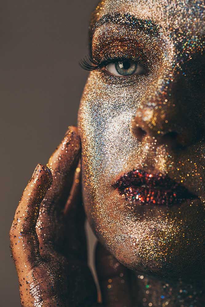 Photo, paillette, studio, portrait, Elsa Cadic