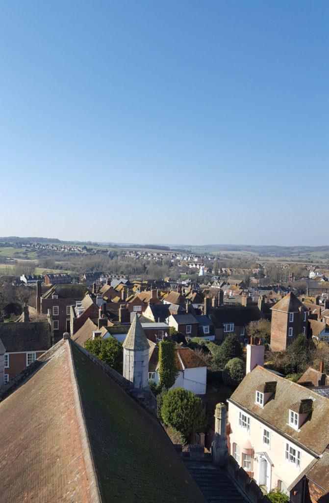 Une française à Brighton, bilan des 3 mois: Vue de l'église Ste Mary à Rye