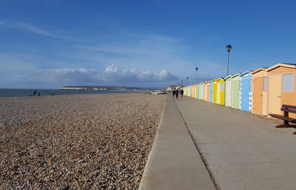 Une française à Brighton, bilan des 2 mois: falaise Seaford bord de mer