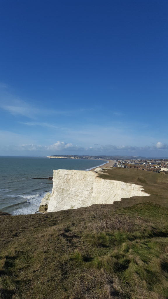 Une française à Brighton, bilan des 2 mois: falaise Seaford vue de la falaise