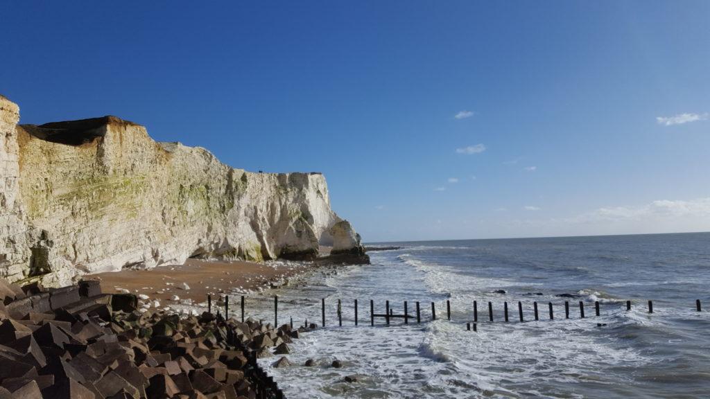 Une française à Brighton, bilan des 2 mois: falaise Seaford vue du bas