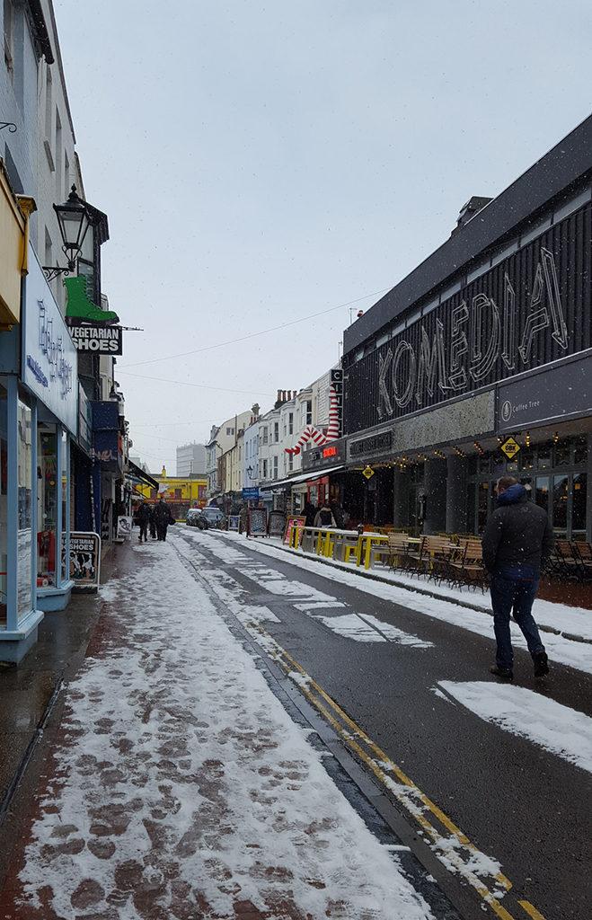 Une française à Brighton, bilan des 3 mois: Gardner street sous la neige