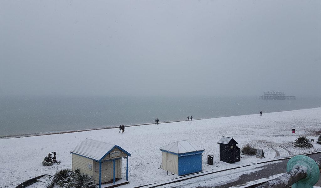 Une française à Brighton, bilan des 3 mois: West Pier Ruines sous la neige