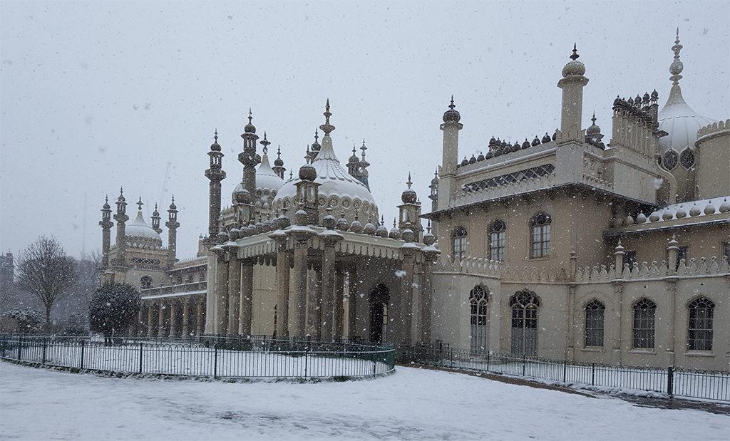 Une française à Brighton, bilan des 3 mois: Pavillon Royal sous la neige
