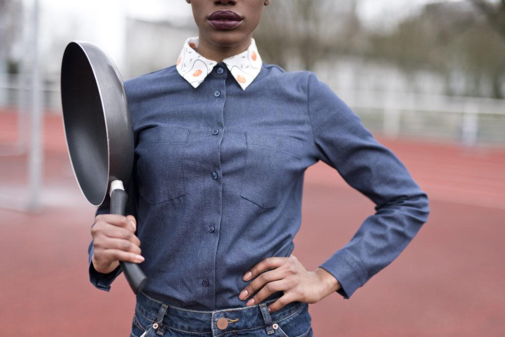 Campagne de financement participatif Ulule Gang de Filles, mode, chemise à col amovible, col cocotte, designer textile, Laurie Buttigieg