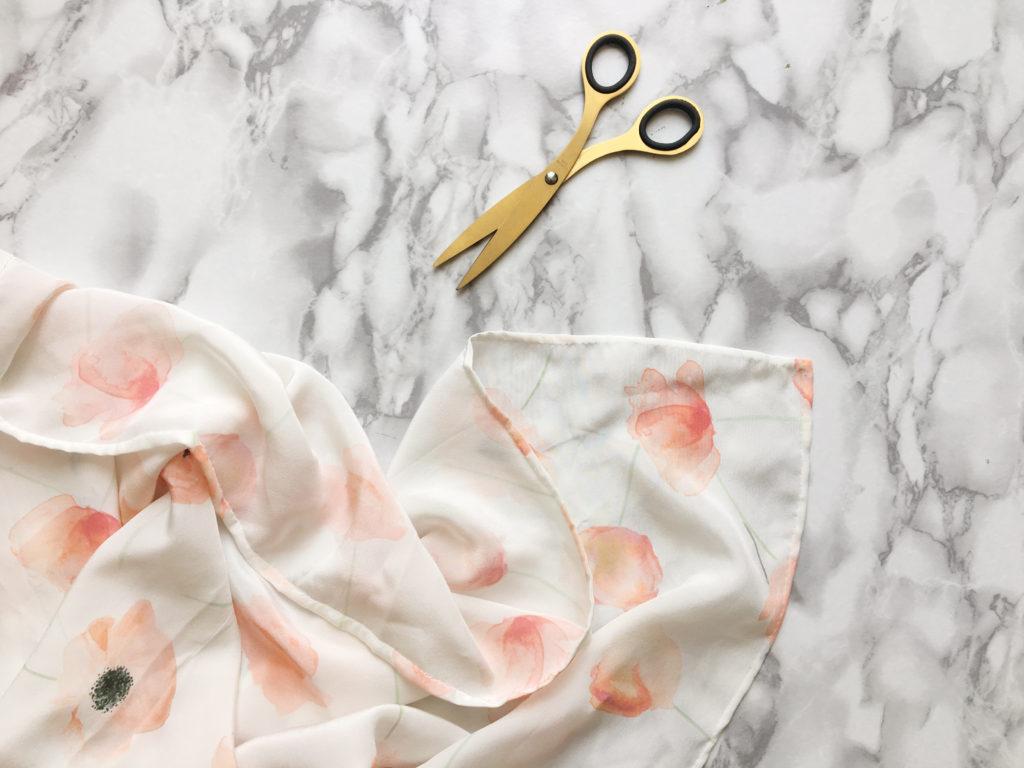 DIY, foulard en soie