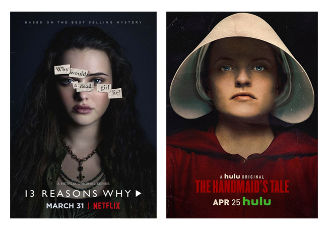 Séries du mois de mai 2018 vues par Laurie Tea and Poppies, 13 reasons why The handmaid's Tale
