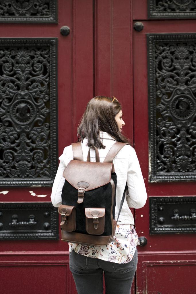 Pachamama, photo, sac, cuir, fabriqué en Bolivie, marque éthique, sac-à-dos, sac de voyage