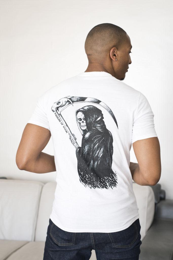 T-shirt Trunk Top Brighton design Laurie Buttigieg - Reaper Faucheuse - Photographe Virginie Zilbermann