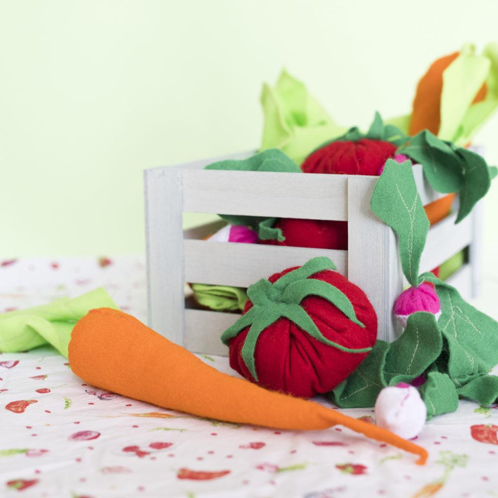 DIY couture tablier super facile et de légumes en feutrines, couture débutant, facile