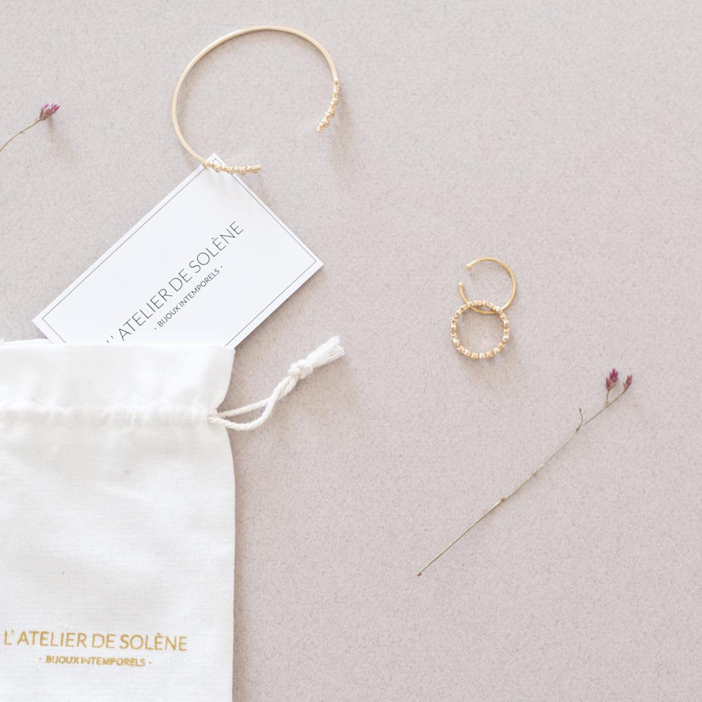 L'atelier de Solène Découverte des bijoux intemporels L'atelier de Solène made in france bijoux fin et délicats dorés à l'or fin 3 micron, résistants à l'eau et à la vie par Tea&Poppies