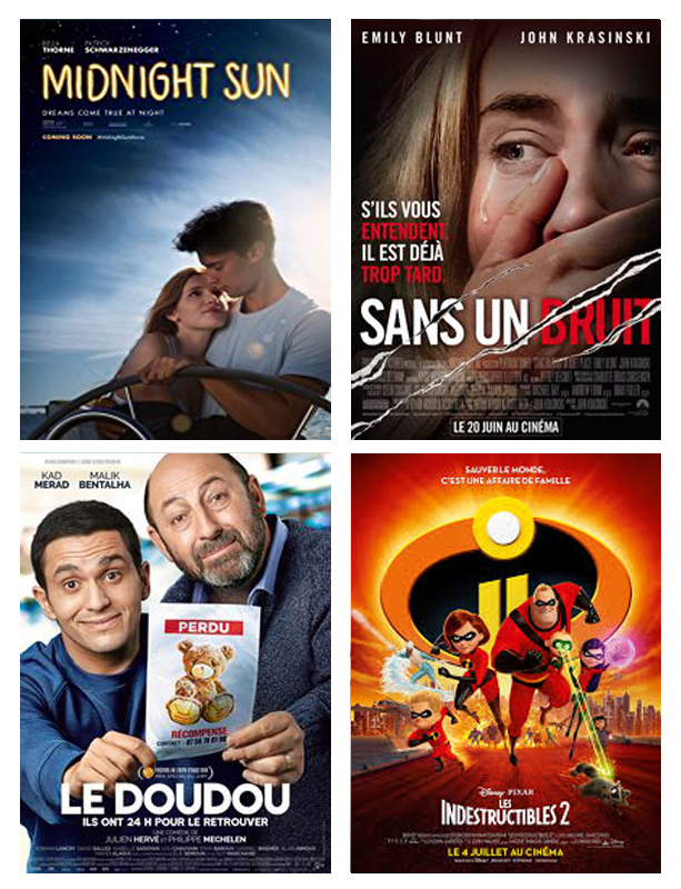 Films du mois de juin 2018 vues par Laurie Tea and Poppies midnight sun, sans un bruit, love simon, le doudou, les indestructibles 2