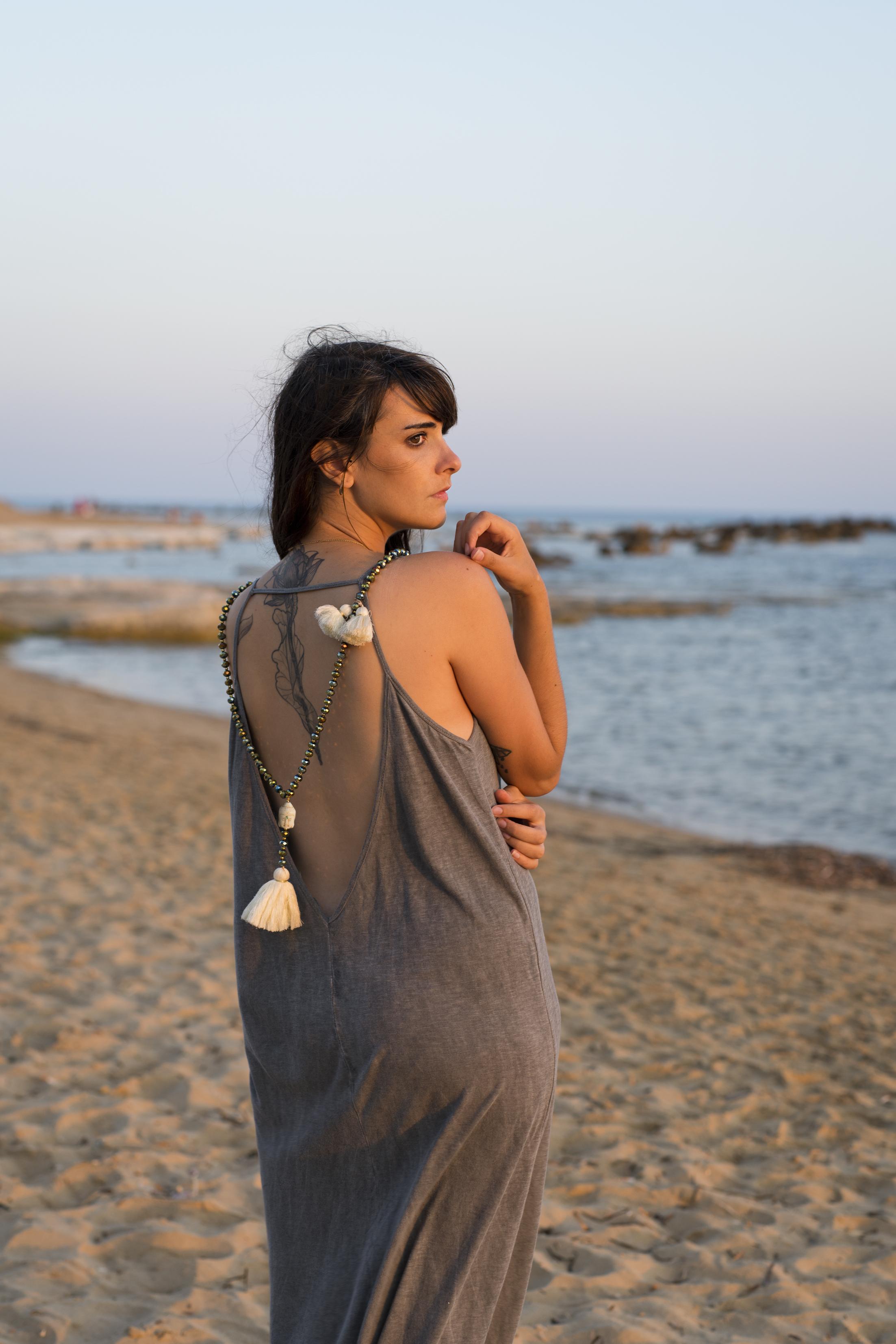 portrait, sicile, Scale dei turchi, paysage, photo, femme, bord de mer