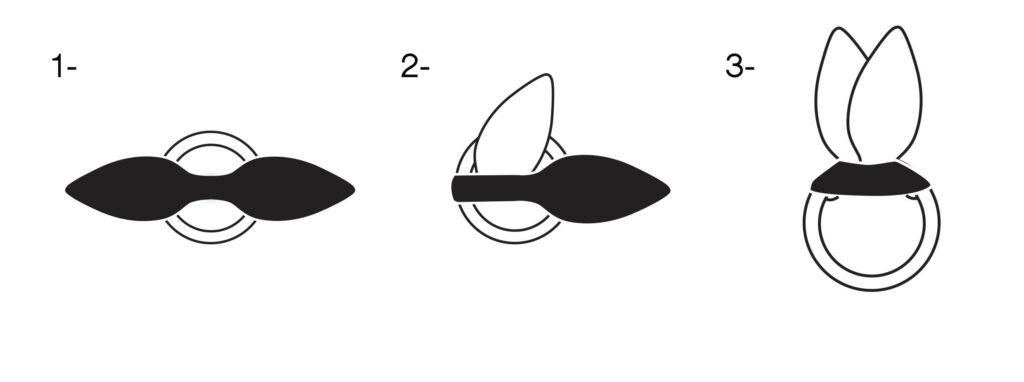 comment assembler un anneau à dentition en tissu ?