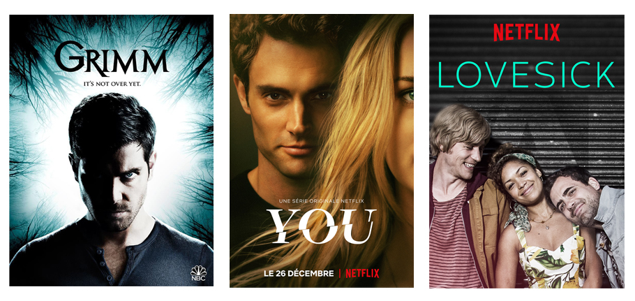 séries, netflix, découvertes, Grimm, You, Lovesick