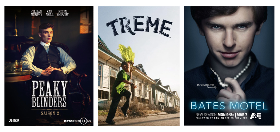 Séries, Peaky Blinders, Treme, Bates Motel