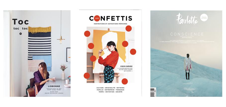 magazines, découvertes, lifestyle, Toc Toc Toc, Confettis, Paulette