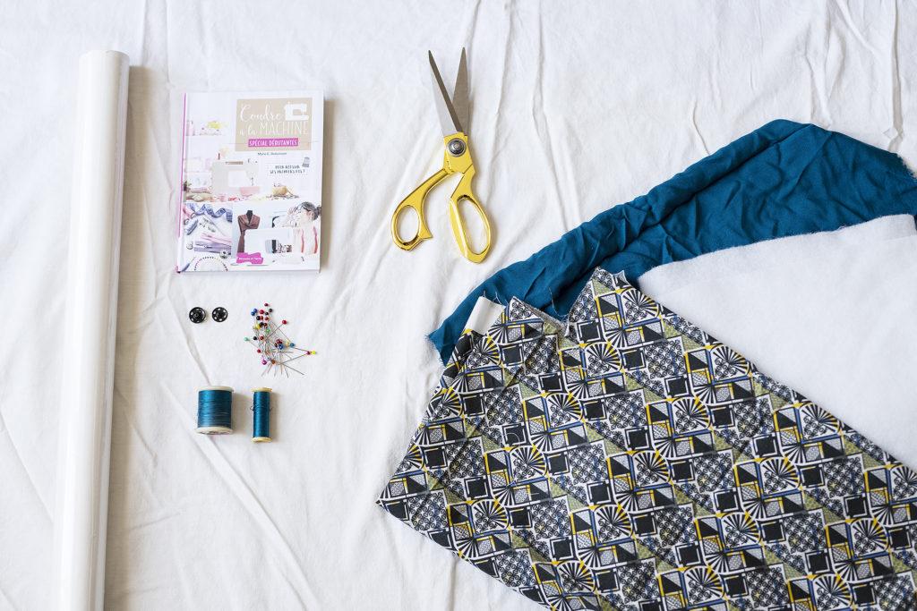 DIY couture, photo, matériel de couture, comment coudre une protection pour ordinateur ? wax, tissus
