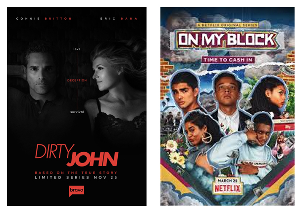 Affiche, série, Netflix, découvertes, Dirty John, On my Block
