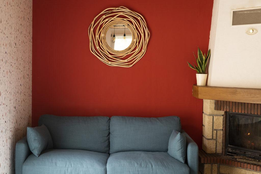 Photo, déco, maison, accessoire, miroir, aménager un coin salon, décorer son salon, matière naturelle, bois