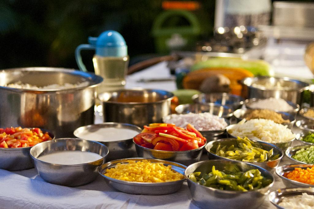 photo, ingrédients, repas indien