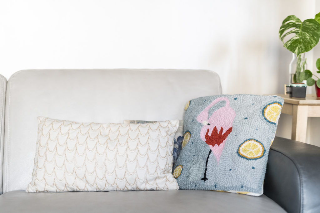 photo, coussin, broderie, punch needle