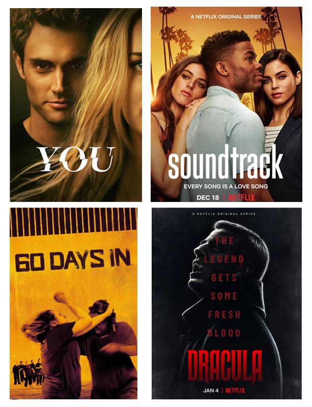 Découvertes, décembre 2019, Netflix, séries, affiches