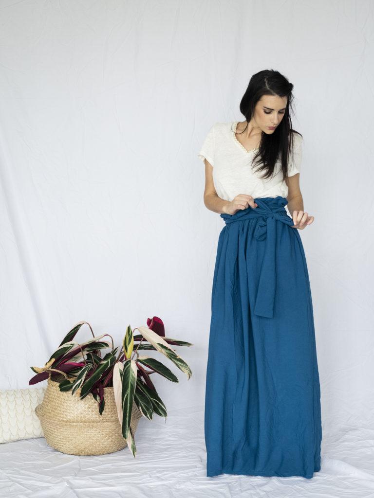 photo, couture, jupe pastel, patron, je porte ce que je couds, blousette rose