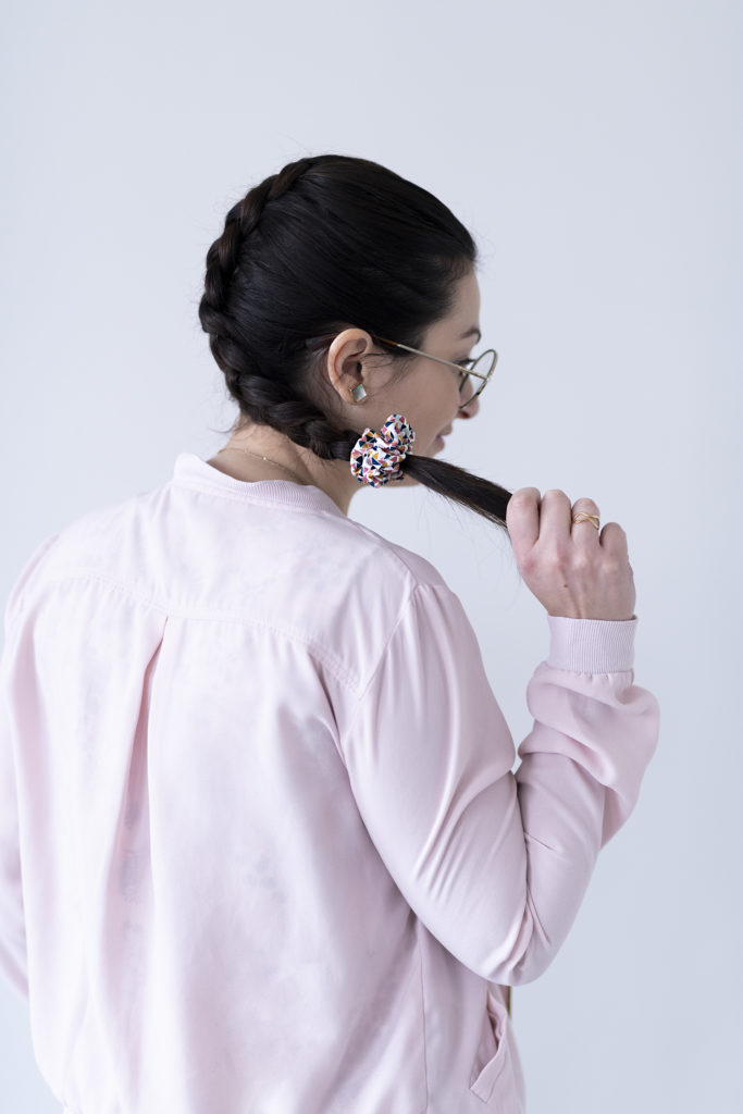 photo, Laurie, couture, chouchou, élastique, Kesi Art, DIY, kit couture